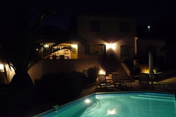 Villa: Pool at Night