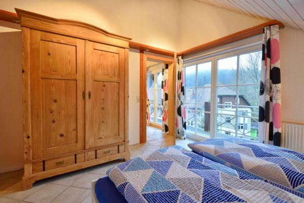 Black Forest holiday home with sauna: one of the sleeping rooms