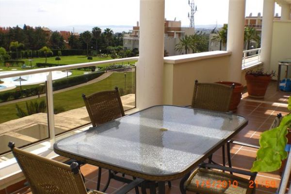 Penthouse Apartment: Table on Main Terrace