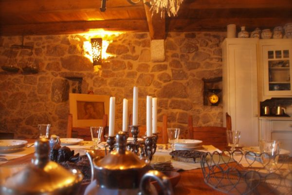 Spendid rustical stone house: Dining room...taverna