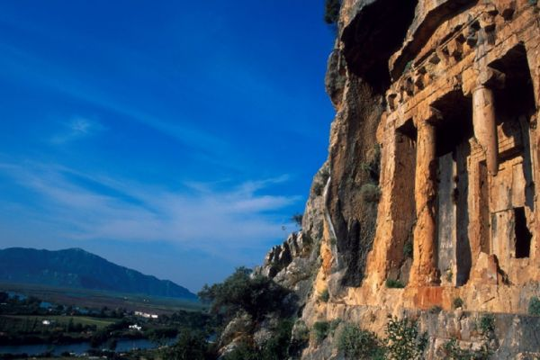 Dalyanjewel luxury villa with landscaped garden: Ancient Lycian tombs