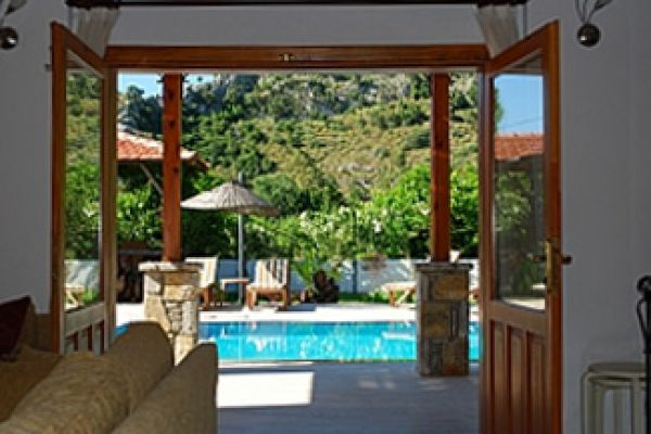 Villa Harika is a modern 4 bedroomed villa  : View from lounge to pool