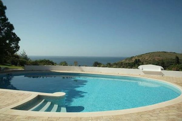 Coastal Villa near Lagos: Pool/View from Living Room