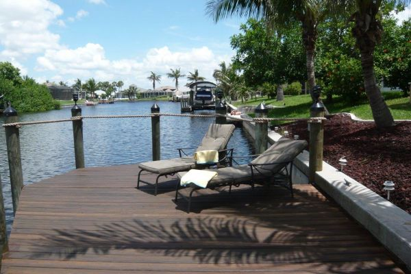 Luxury waterfront villa : Canal View and dock